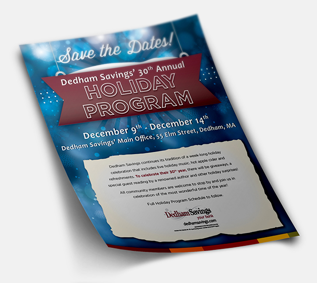 Dedham Savings Holiday - flyer
